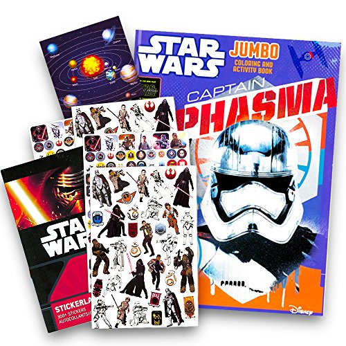 Star Wars Coloring Book with Stickers ~ Includes Bonus Solar System Sticker! Bb Set Solar System