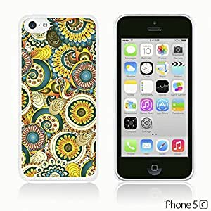 OnlineBestDigital - Geometrical Pattern Hardback Case for Apple iPhone 5C - Floral Retro Pattern