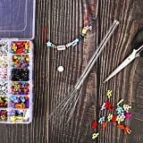 Peirich 38 Pcs Beading Needles with Bottle, Seed