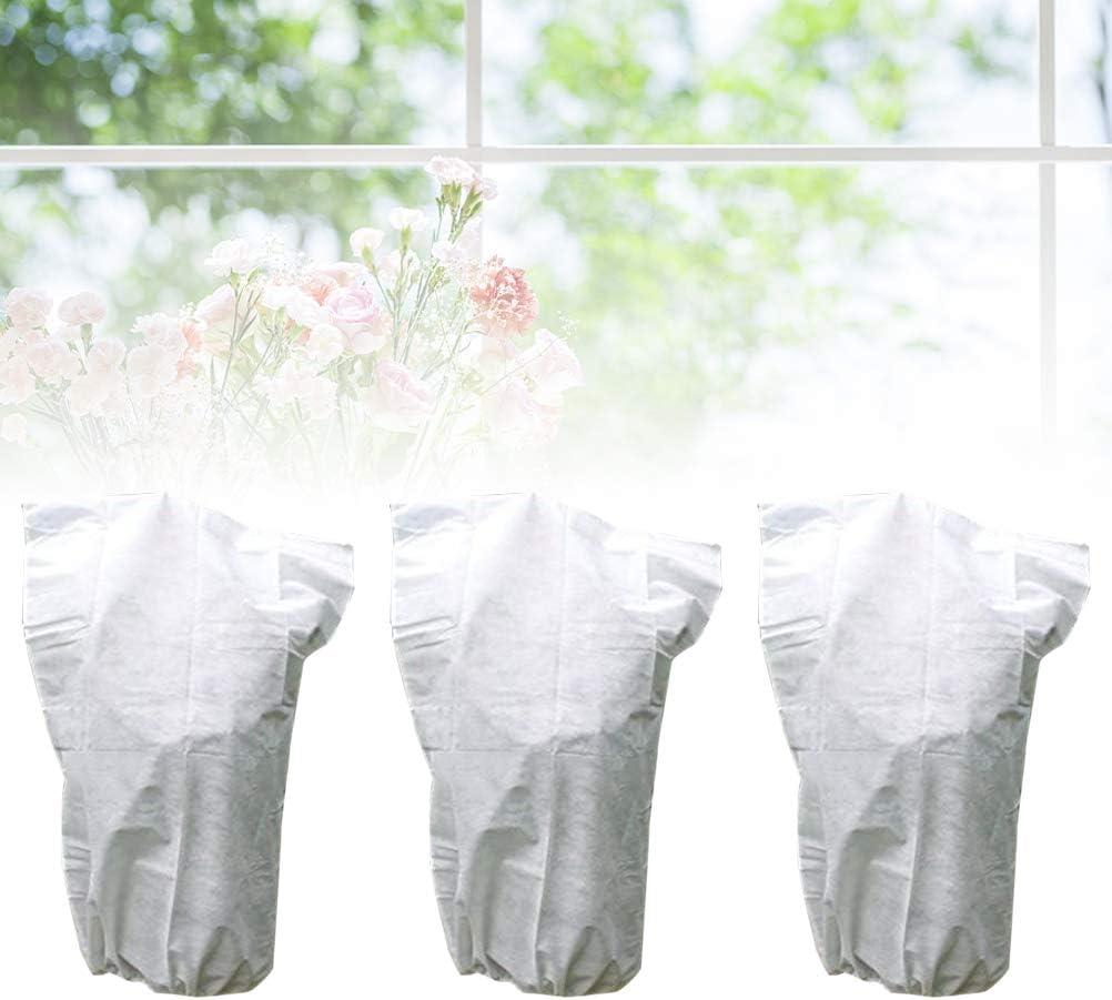 OUNONA Housse de Protection Plante Fleur Plante Jardin Couverture de Serre lhiver 3 PCS 60 x 110cm Blanc