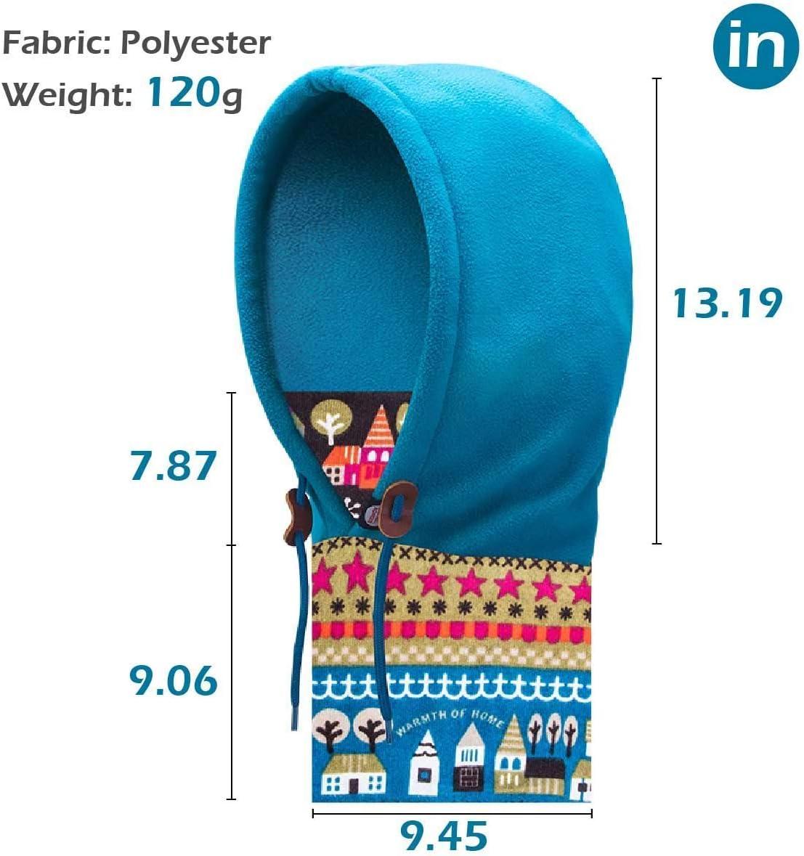 TRIWONDER Balaclava Thermal Fleece Hat Neck Warmer Face Ski Mask Full Face Mask Cover Cap