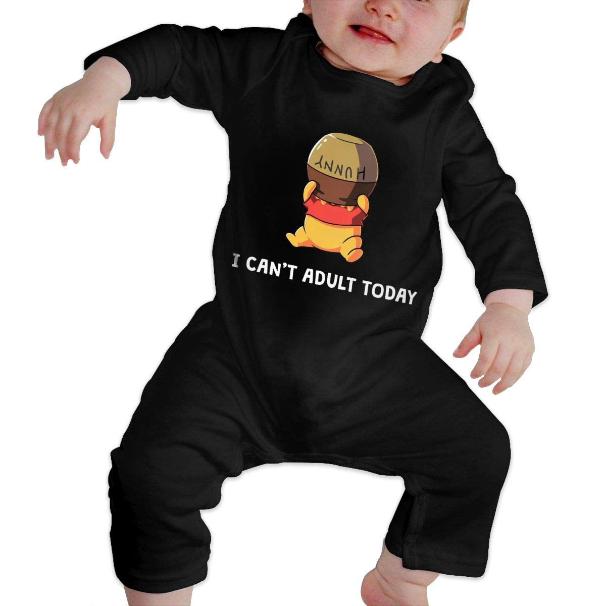Funny Bear Cant Adult Today Newborn Baby Boy Girl Romper Jumpsuit Long Sleeve Bodysuit Overalls Outfits Clothes