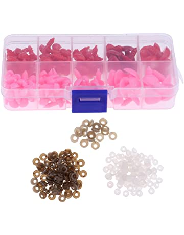 DYNWAVE 100 Pieces 9mm Plastic Safety Eyes Nose Washer Backs for Bear Doll DIY Craft