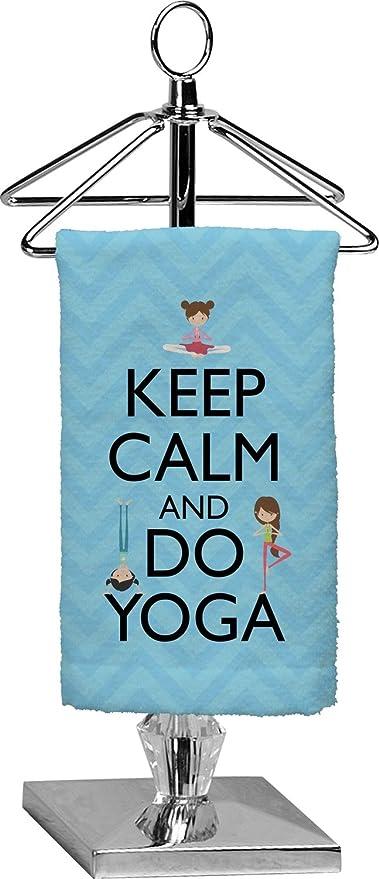 RNK Shops Mantener la calma y hacer Yoga toalla de punta de los dedos (personalizado
