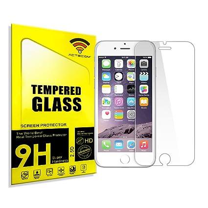 a2e1712d8aa ACTECOM® CRISTAL TEMPLADO PROTECTOR PARA IPHONE 6 / 6S PLUS 5,5 0.26 ...