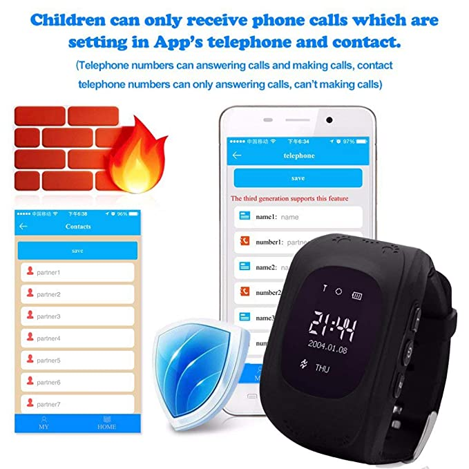 TKSTAR Los niños Reloj Inteligente GPS Rastreador niños Reloj de ...