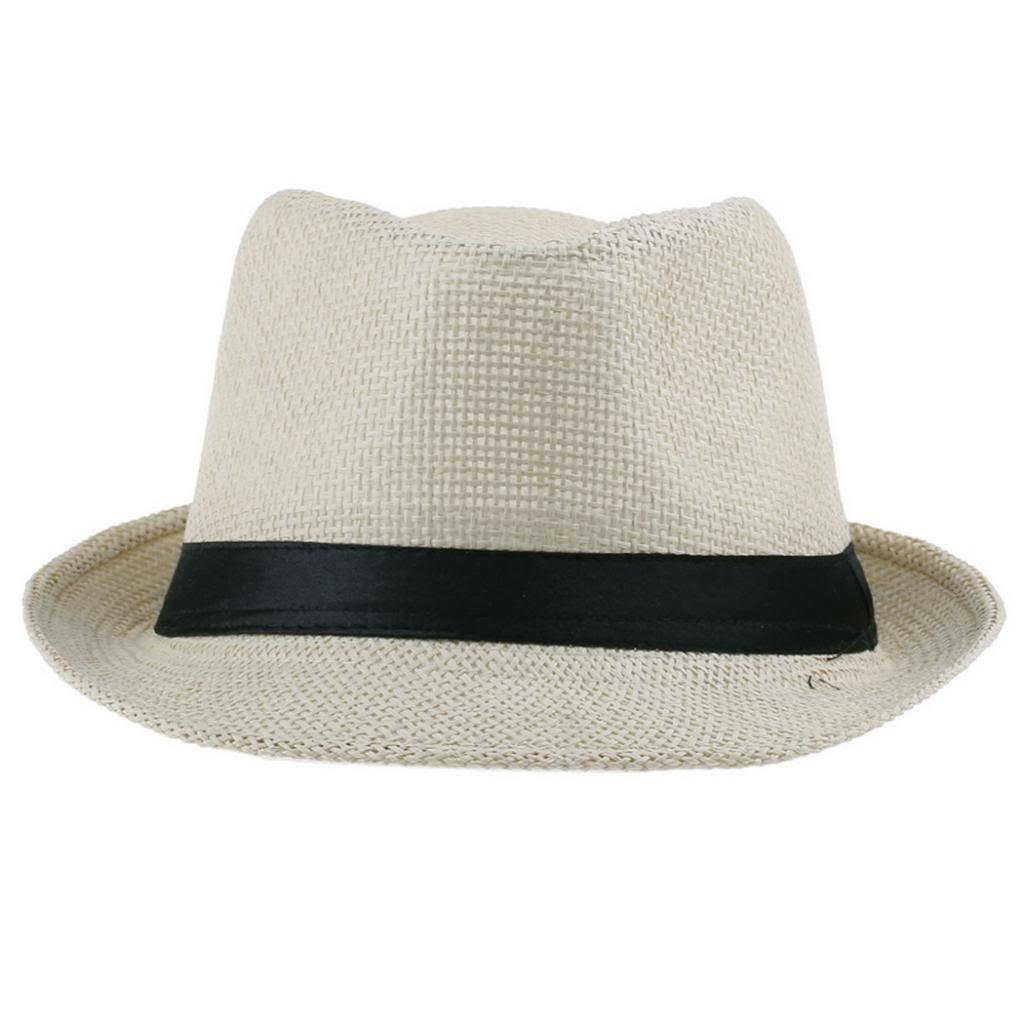 EOZY Sombrero De Sol/Paja/Playa/Panama/Gorra Deporte Para Hombre Mujer Beige