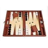 Silverman Desert Brown Board Backgammon Set, 13-Inch