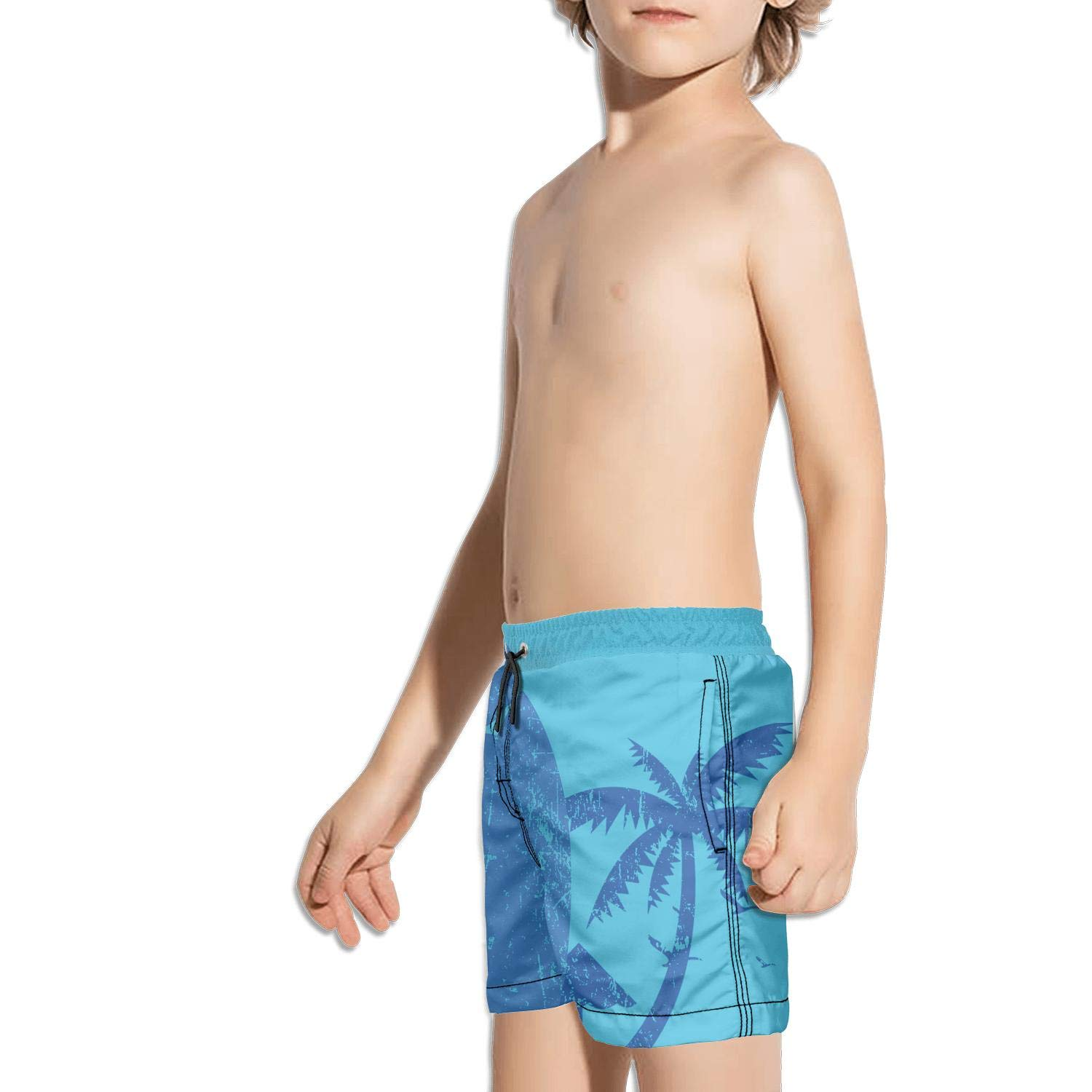 Boys Quick Dry Swim Trunks Sweet Sugar Glider Flowers Pattern Beach Board Shorts