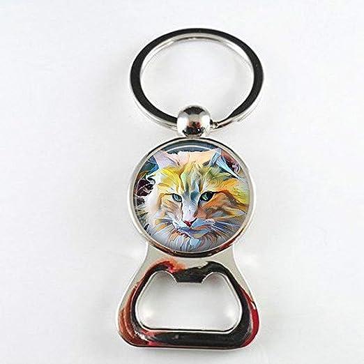 Impresionante abrebotellas de pintura de gato, arte de gatito ...