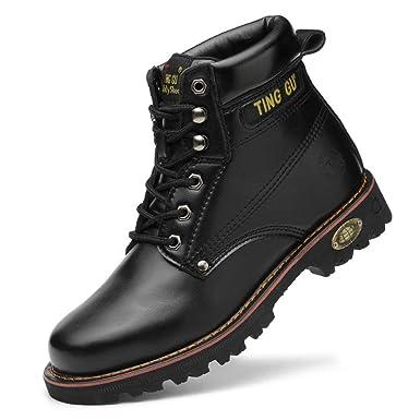 AIXSHOE Botas de Seguridad Hombre, Punta de Acero Zapatos de ...