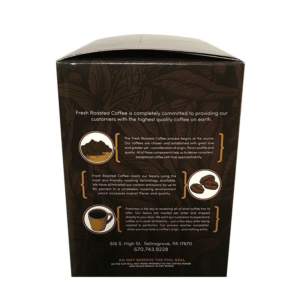 Fresh Roasted Coffee LLC, Dark Brazilian Cerrado Coffee Pods, Medium Dark Roast, Single Origin, Capsules Compatible with 1.0 & 2.0 Single-Serve Brewers, ...