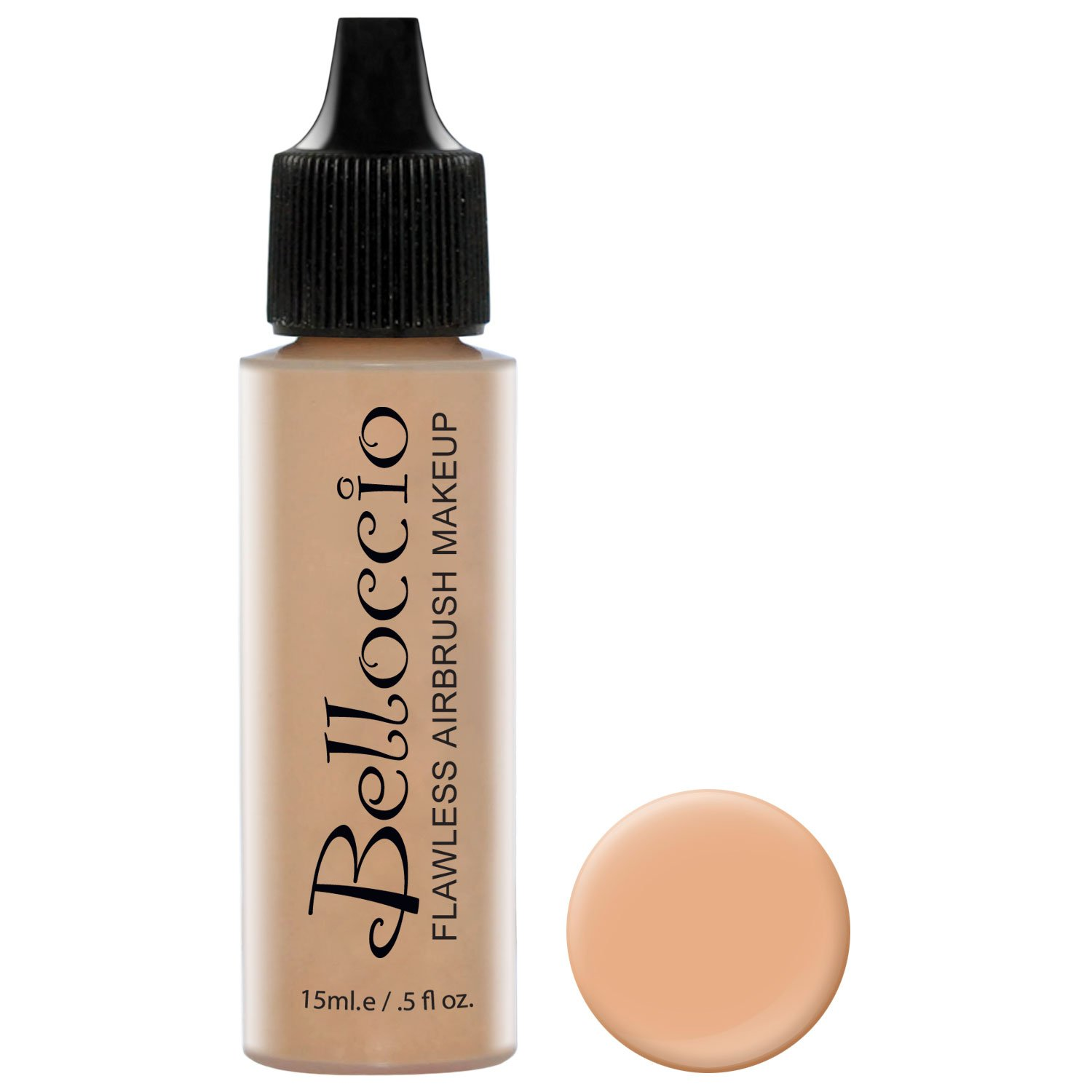 Belloccio's Professional Cosmetic Airbrush Makeup Foundation 1/2oz Bottle: Ivory- Light-medium Neutral Pink And Yellow Undertones