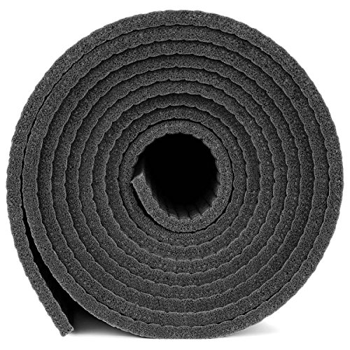 YogaAccessories Thick Deluxe & Mat, Black
