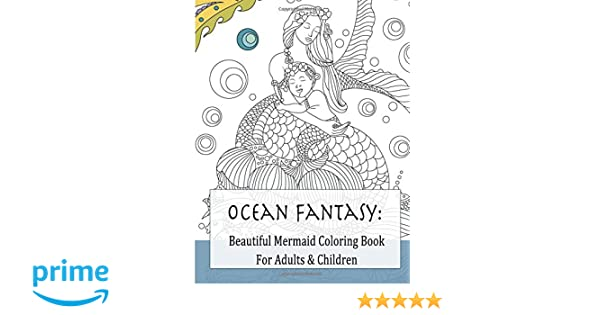 Beautiful Mermaid Coloring Book For Adults Children Beautiful