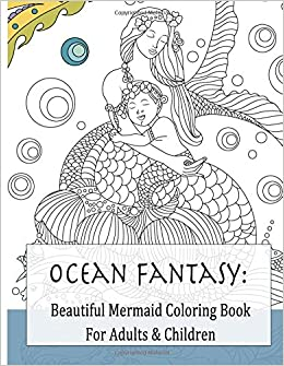 Beautiful Mermaid Coloring Book for Adults & Children ...