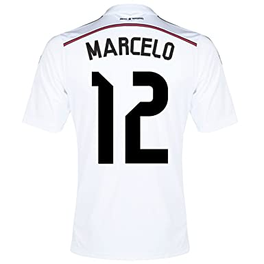 2e03fa6f0 Amazon.com  Adidas MARCELO  12 Real Madrid Home Jersey 2014 15 YOUTH ...