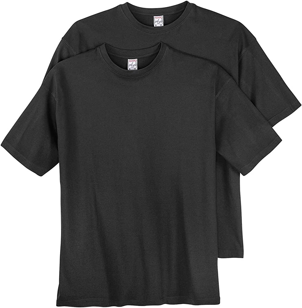 Pack de Dos Camisetas Negras Adamo en Tallas Grandes, 2xl-10xl ...