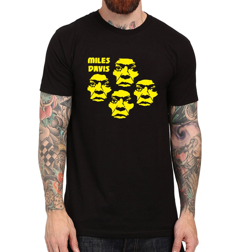 Loo Show S Miles Davis Vintage Jazz Casual T Shirts Tee