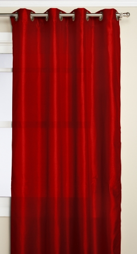 RT Designers Collection Nancy Grommet Window Panel, 55 by 84-Inch, Red