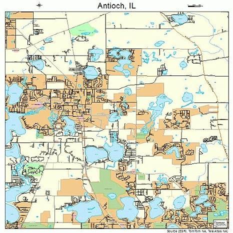 Amazon.com: Large Street & Road Map of Antioch, Illinois IL ...