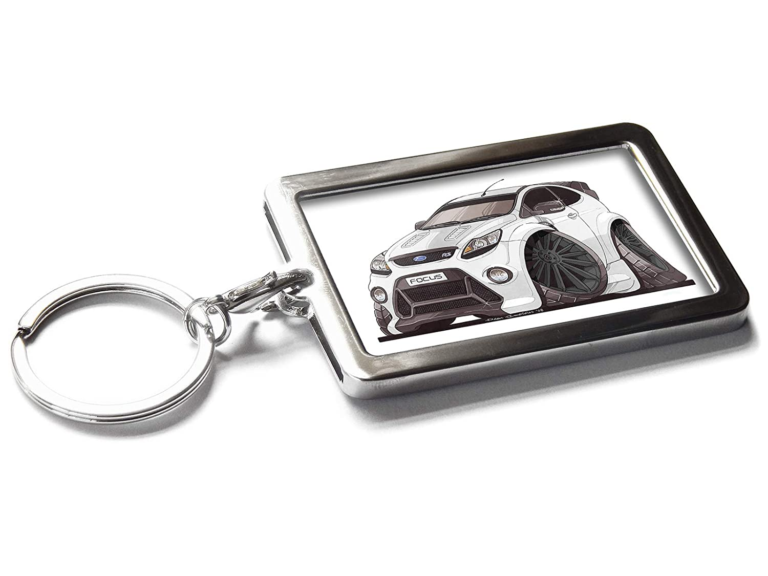 Koolart Cartoon Car Jaguar F Type Metal Keyring With Gift Box