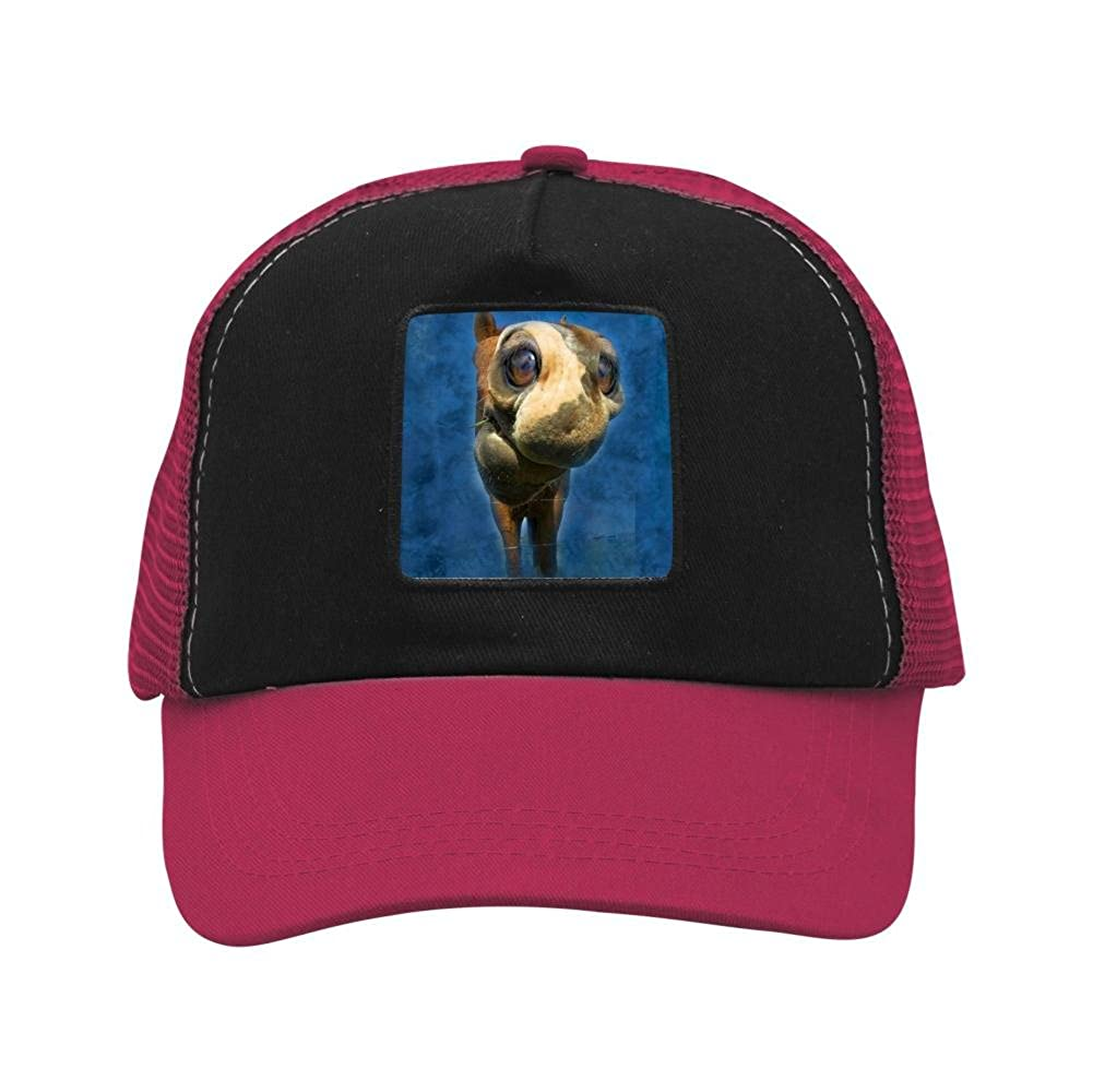 Nichildshoes hat Mesh Cap Hat Adjustable for Men Women Unisex,Print Little Horse