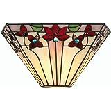 Oaks Lighting Camillo - Lámpara de pared con cristales de Tiffany, multicolor