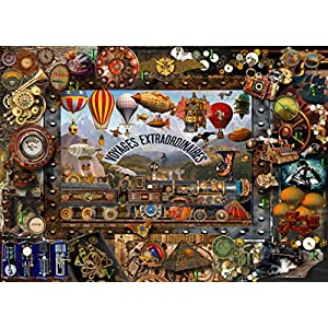 Hennessy Puzzles Steampunk 1000 Piece Jigsaw. Lois Sutton Artist. Fall Colors