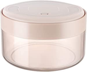 Food Storage Containers for Coffee & Food, Harebe 25 Ounce Vacuum Storage Box, Integrated Vacuum Pump - No Need for Additional Air Pump, Airtight Seal - Transparent Light Brown