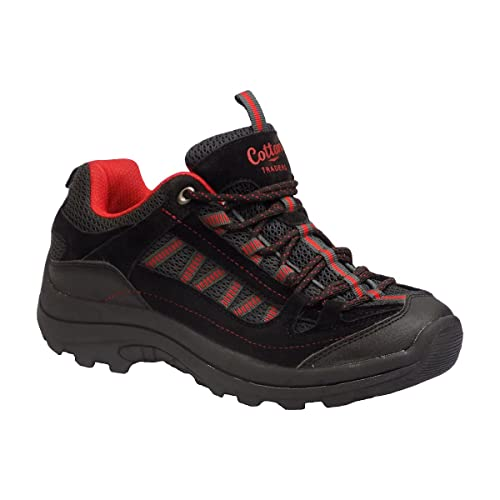 b6908c21c68 Amazon.com | Cotton Traders Men's Hiking Trail Black Charcoal Red ...