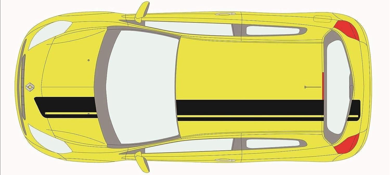 SUPERSTICKI FIAT Punto Sport Seitenstreifen Set Rallyestreifen Racing Stripes beidseitig Aufkleber Autoaufkleber Tuningaufkleber Hochleistungsfolie f/ür alle glatten Fl/ächen UV und Waschanlage