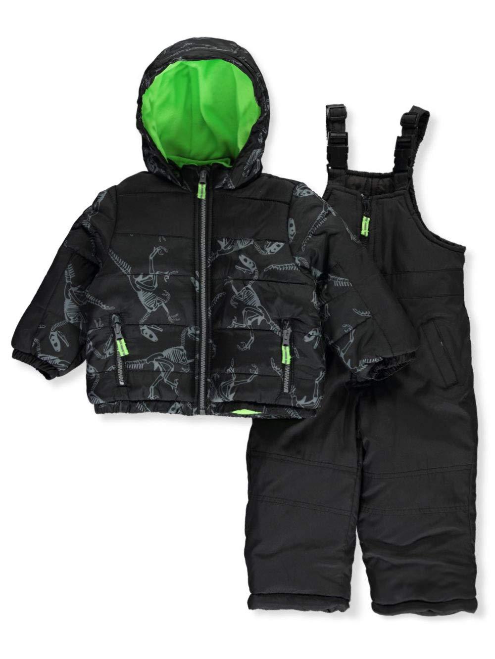 Osh Kosh Baby Boys Ski Jacket and Snowbib Snowsuit Set, Print Fall, 12Mo by OshKosh B'Gosh
