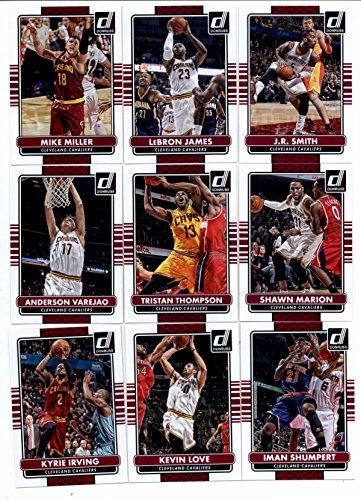 2014/15 Donruss Basketball Team Set (Veterans)- Cleveland Cavaliers (8 Cards)> Kyrie Irving,Kevin Love,Iman Shumpert,Anderson Varejao,Tristan Thompson,Shawn Marion,Mike Miller,LeBron James