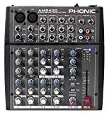 Phonic AM240D 2 Mic/Line 4 Stereo Input Compact Mixer with DFX