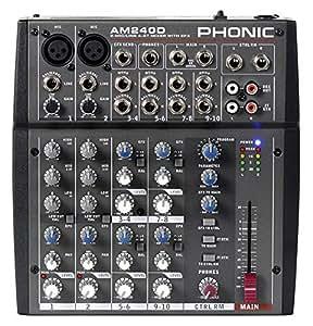 Phonic AM240D Mezclador Analógico con DFX