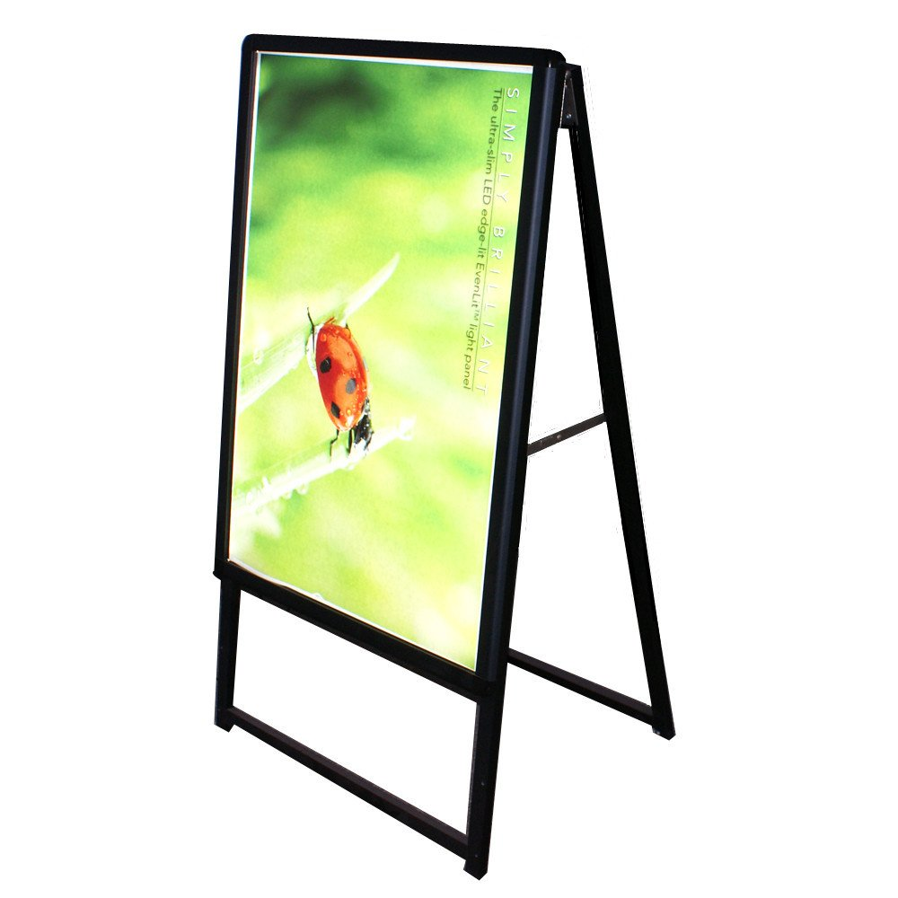 LED Light Poster Display Board Illuminated Sign Panel Frameless for Showroom Store Shop Window Advertising Sideray Single Sided 2.36 Thickness Without Graphics