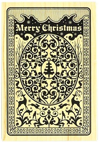 Inkadinkado Wood Stamp, Christmas Playing Card