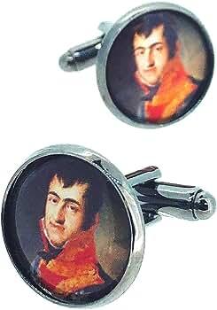 Gemelos para Camisa Fernando VII Rey de España: Amazon.es: Ropa y ...