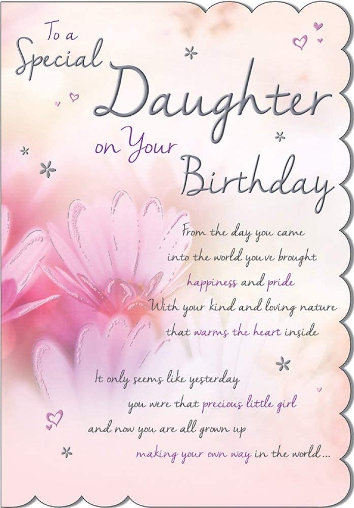 Amazing Stunning Top Range Wonderfully Worded 5Verse To A Special Daughter Funny Birthday Cards Online Inifodamsfinfo