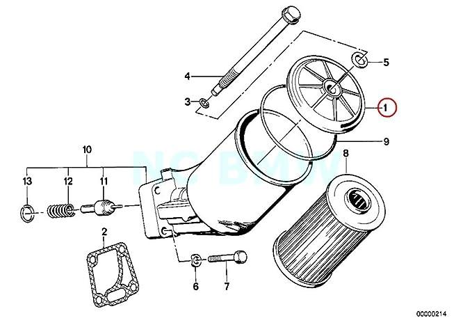 Amazon Com Bmw Genuine Oil Filter Cover Automotive