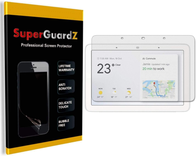[3-Pack] for Google Nest Hub/Google Home Hub Screen Protector - SuperGuardZ, Anti-Glare, Matte, Anti-Fingerprint, Anti-Bubble [Lifetime Replacement]
