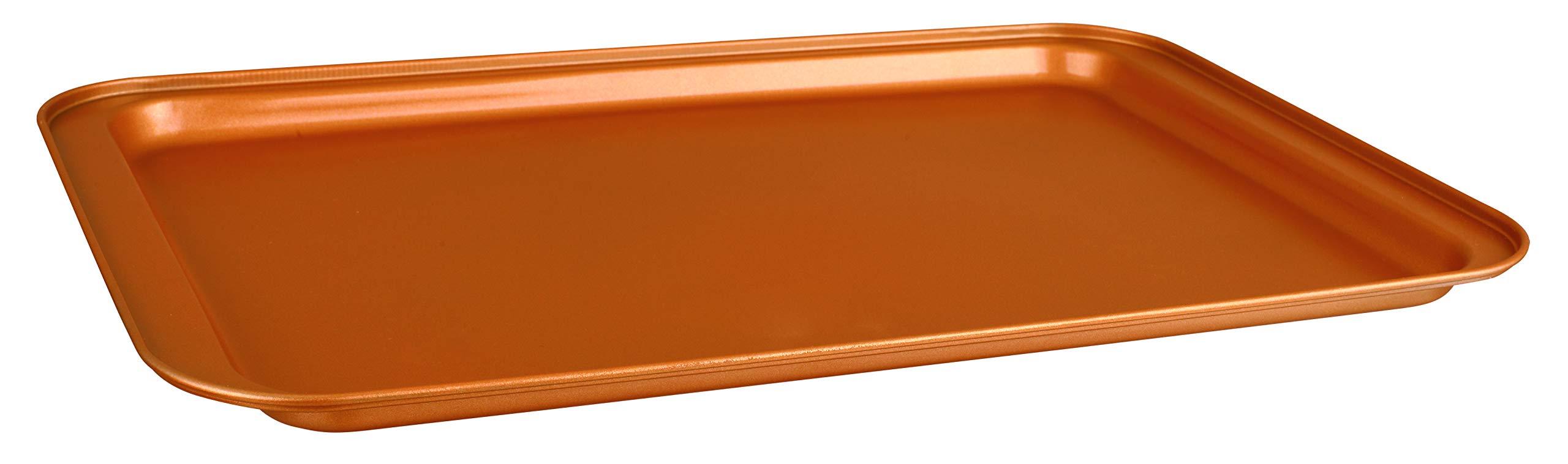 CopperKitchen Baking Pans - 3 pcs Toxic Free NONSTICK - Organic Environmental Friendly Premium Coating - Durable Quality - Rectangle Pan, Cookie Sheet - BAKEWARE SET (3) by CopperKitchenUSA (Image #2)