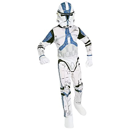 Amazoncom Deluxe Clone Trooper Captain Rex Child Costume Medium