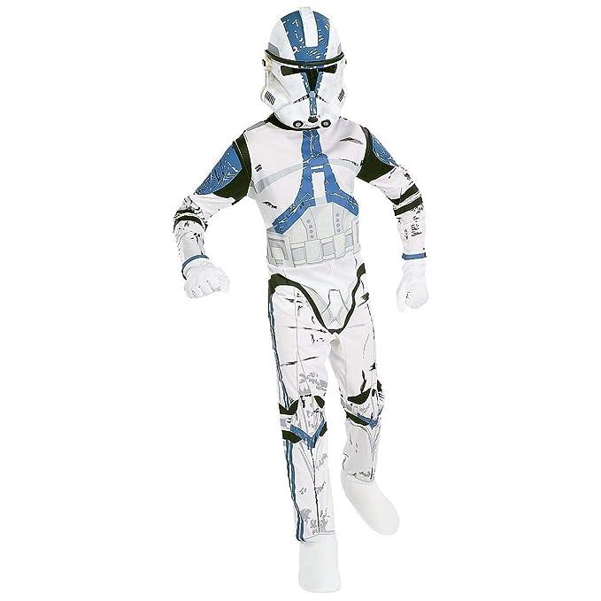Mask Clone Trooper Rex Star Wars Boys Fancy Dress Kids Childs Costume Outfit