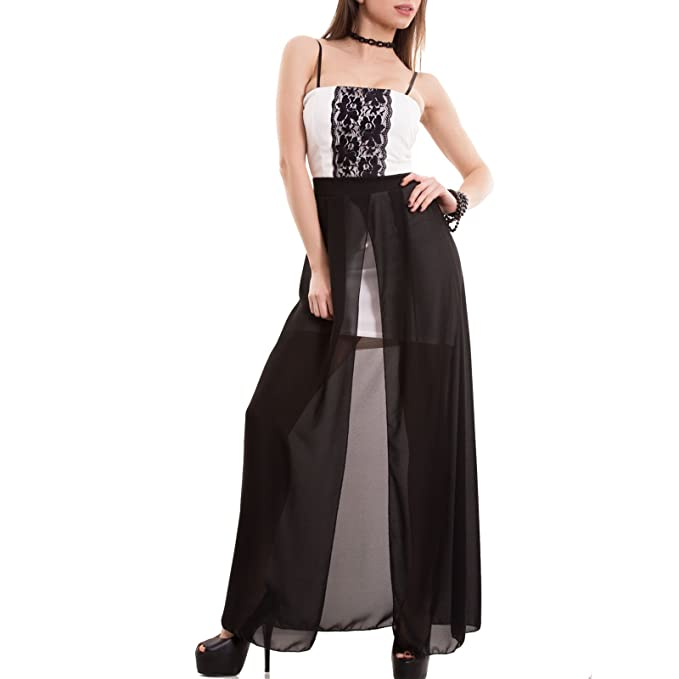 data di rilascio: c7a2d c131f Toocool - Vestito donna miniabito tubino gonna velata lunga ...
