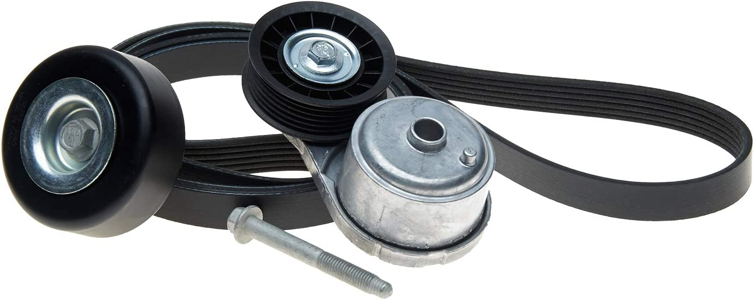 Belt Pulley and Bolt ACDelco ACK060960K1 Professional Automatic Belt Tensioner and Pulley Kit with Tensioner