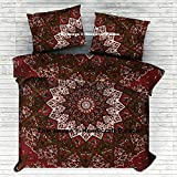 Elephant Star Mandala Indian Handmade Doona Cover Bohemian Cotton Duvet Cover, Comforter Cover, Quilt Cover, Donna Cover Set Boho Duvet Cover. Bohemian Bedspread By Handicraftspalace