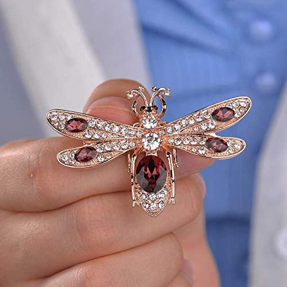 Bee Brooch Pin Anti-Going Silk Scarf Buckle Coat Western Ornament Badge Gift