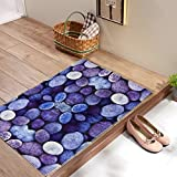 2 Bath Mats Sets Decor - Decorative River stone Pebbles Special Door Carpets Super Gift for Just Married Couples, Anniversary Gift